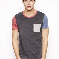 ASOS T-Shirt With Contrast Sleeves And Pocket