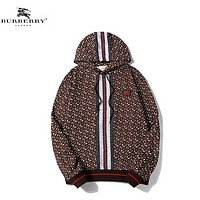 Burberry Fashion New More Letter Print Women Men Long Sleeve Top Sweater