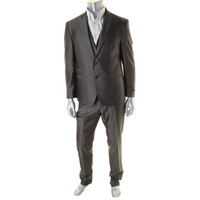 Andrew Fezza Mens 3PC Notch Collar Two-Button Suit