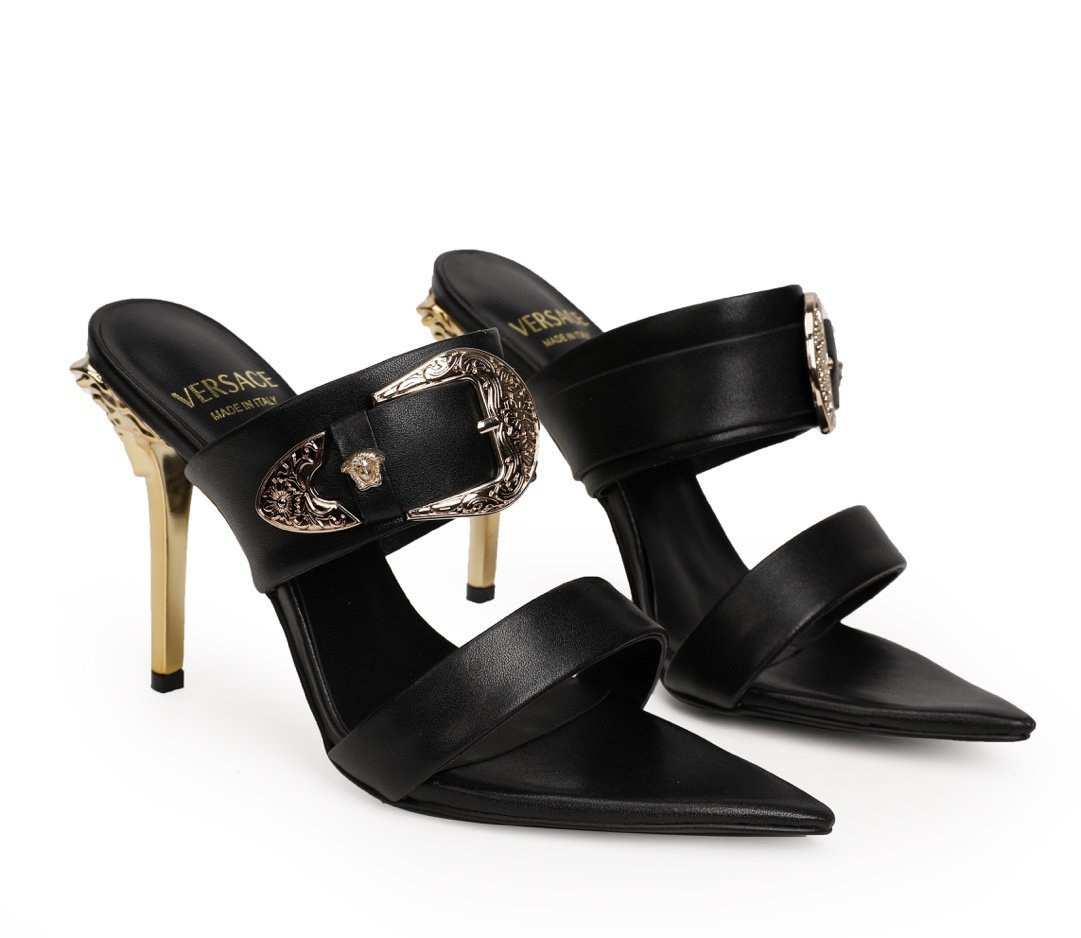 Image of VERSACE  Women Casual Shoes Boots fashionable casual leather Women Heels Sandal Shoes