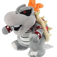 Super Mario party nes switch 26cm Koopa Bowser JR Plush Cartoon Doll Toys Hot Game  Luigi Figure Cotton soft stuffed gray cute koopa doll with tag AT_80_8