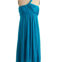 Custom A-line One-shoulder Sleeveless Knee-length Chiffon Bridesmaid Dress With Free Shipping