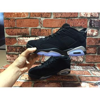 Air Jordan retro 6 black infrared low chrome basketball shoes 2016 men VI low cut US size 5.5-13