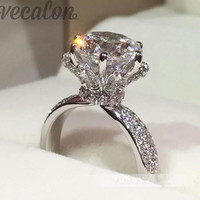 Promotion 94%OFF Vecalon Engagement wedding Band ring for women 3ct Cz diamond ring 925 Sterling Silver Female Finger ring