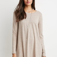 Boxy Heathered T-Shirt Dress
