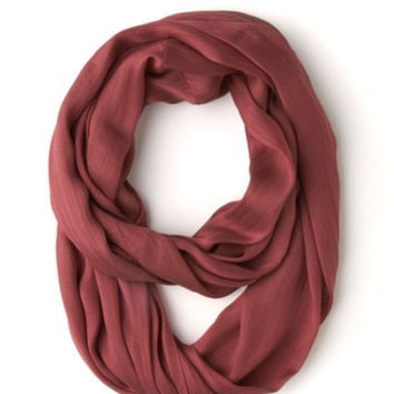 ModCloth Minimal Brighten Up Circle Scarf in Berry