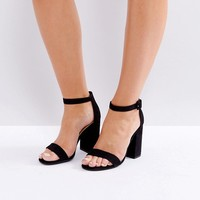 New Look Barely There Block Heeled Sandal at asos.com