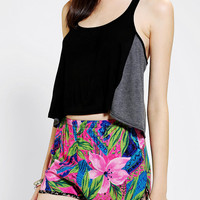 Urban Outfitters - Tela Colorblock Cropped Top