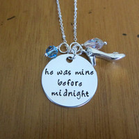 """Sassy Princess Necklace. """"He was mine before midnight"""" necklace. Swarovski crystal elements. Perfect for Bounding."""