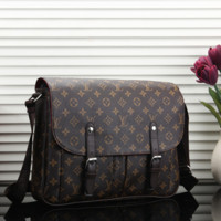 Louis Vuitton LV Bag Leather Satchel Shoulder Bag Crossbody