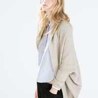 Two-tone wrap jacket with pockets and hood