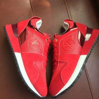 【Louis Vuitton】LV Woman Trending Fashion Casual Running Shoes Red G