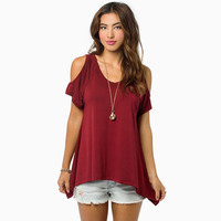 Off Shoulder V-Neck Shirt