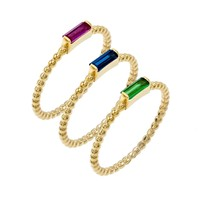Rope / Baguette Ring Set