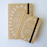 Pair of Hand Illustrated Christmas notebooks