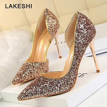 Bling Glitter High Heel Shoes