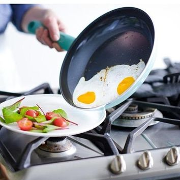 GreenLife Diamond Non-Stick Frypans in Turquoise