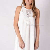 perfect situation tunic dress - white at Esther Boutique