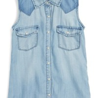 BLANKNYC Sleeveless Shirt (Big Girls) | Nordstrom