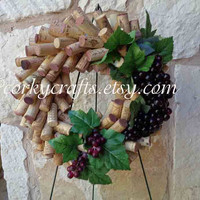 Wine Cork Wreath - table centerpiece, housewarming gifts, wine gifts, unique one of a kind gift