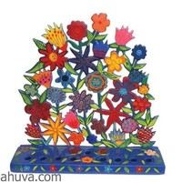 Flowers Menorah