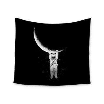 "Digital Carbine ""Help!"" Black White Wall Tapestry"