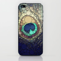 Peacock Feather iPhone & iPod Skin by Love2Snap