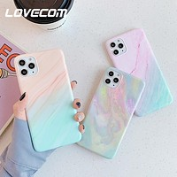 Candy Color Marble Phone Case For iPhone 11 Pro Max XR XS Max 6 6S 7 8 Plus X
