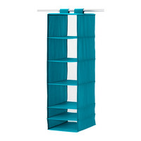 "SKUBB Organizer with 6 compartments, turquoise - 13 ¾x17 ¾x49 ¼ "" - IKEA"