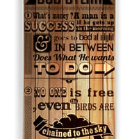 Bob Dylan Quotes On Wood for Iphone 4 / 4s Hard Cover Plastic