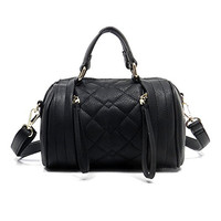 Mini Quilted Bowler Bag