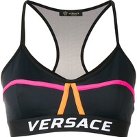 Black Spaghetti Sports Bra by Versace