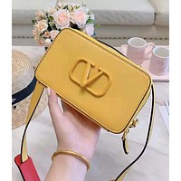 Valentino High Quality Popular Women Chic Leather Shoulder Bag Crossbody Satchel Yellow