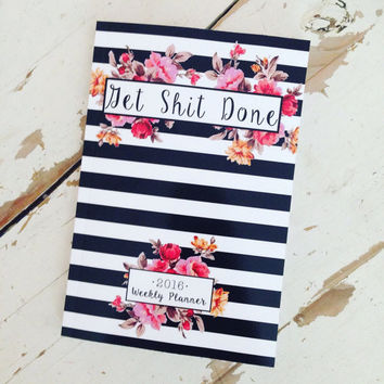 2016/2017 Weekly Planner- GSD BW