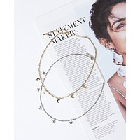 Dainty Moons Choker Necklace