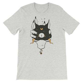 Two Headed Cat, Unisex T-Shirt, Athletic Heather