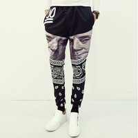 Men Fitness Long Pants Men Casual Sweatpants Baggy Jogger Trousers Fitted Bottoms Novelty Trousers SM6