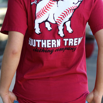 Proud Pig Baseball Tee by SOUTHERN TREND {Chili Pepper}