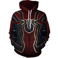 Super Heroes Avengers 3 Spiderman Returns Hoodie Iron Spiderman Casual Pullover Sweatshirts 22 New Spider Thank you External Set