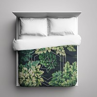 Duvet Cover - Green Hex by Leftfield_Corn