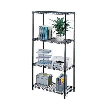 Safco Industrial Wire Shelving Storage Unit 36 x 18 Black