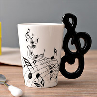 Ceramic Coffee Cup (Music Inspired - Treble Clef)