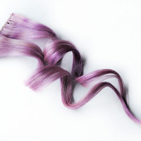 Human Hair Extension, Spring extension hair, hair extension, lavender purple, clip in hair, Tie Dye Colored Hair -Wild Violet