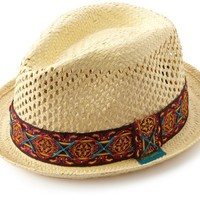Robert Graham Men's Mithras Fedora, Natural, S