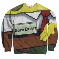 Meme Expert Sweater