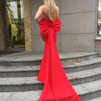 Missord 2016 Sexy wrapped chest bow halter maxi dress party dress FT4792