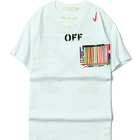 OFF WHITE Couple Round-neck Short Sleeve T-shirts [11501027276]