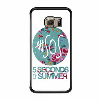 5 Seconds Of Summer Floral Pink Samsung Galaxy S6 Edge Case