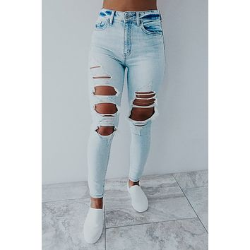 REORDER: Count On Me Jeans: Light Denim