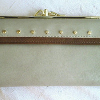 1960's Vintage Large Leather Checkbook Wallet NWT Deadstock